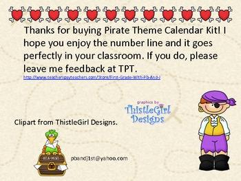 Pirate Calendar Kit