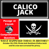 Pirate Calico Jack, Differentiated Reading Passage, October 20