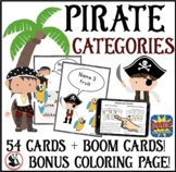 Pirate Category Cards: Speech Therapy