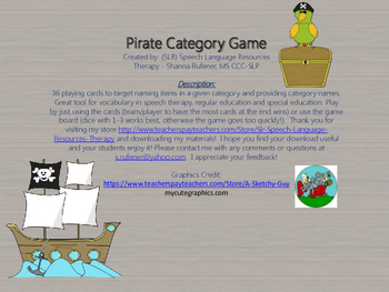 Pirate Category Game
