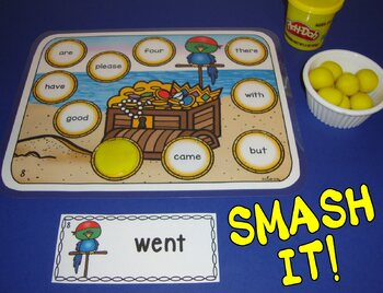 Pirate Centers Sight Word Centers 220 Words Pirate Activities Smash Mats