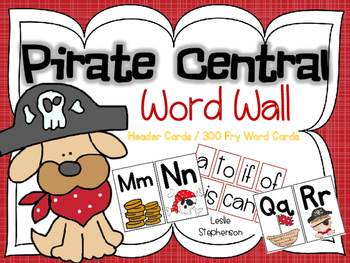 Pirate Central - Word Wall