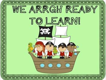 Pirate Class Behavior Chart