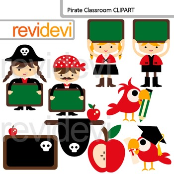 Pirate Classoom Clip Art / back to school clipart