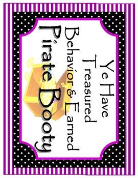 Pirate Classroom Behavior Plan