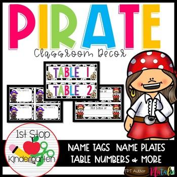 Pirate Classroom Decor-Editable