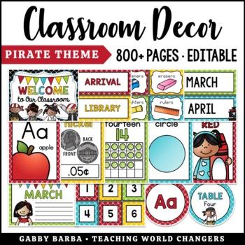 Pirate Classroom Decor Bundle {500+ pages!}