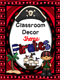 Pirate Classroom Decor {EDITABLE}