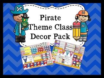 Pirate Theme Classroom Decor Pack