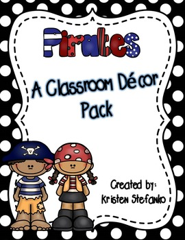 Pirate Classroom Decor Pack with Editable Pages