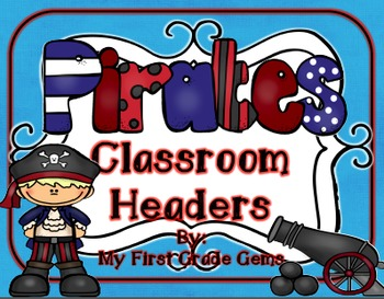 Pirate Classroom Headers