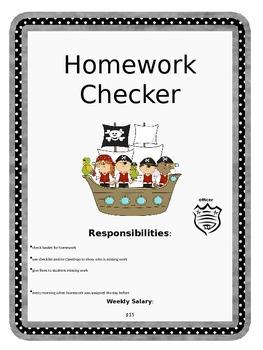 Pirate Classroom Job Descriptions