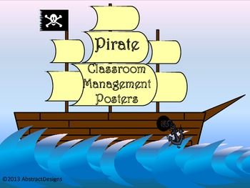 Pirate Classroom Management Posters