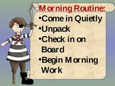 Pirate Classroom Routines