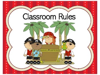 Pirate Classroom Rules | Pirate Theme Class Rules | Pirate Themed Classroom