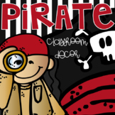 Pirate EDITABLE Classroom Theme