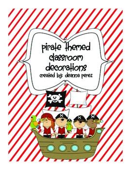 Pirate Classroom Theme Bundle!