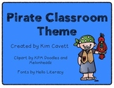 Pirate Classroom Theme Materials