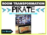 Pirate Classroom Transformation 2nd grade Reading Skills Spiral Review - DIGITAL