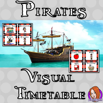 Pirate Classroom Visual Timetable