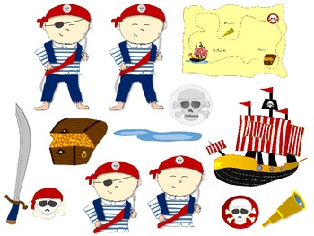 Pirate Clip Art - Commercial or Personal Use