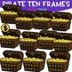 Pirate Clip Art - Pirate Treasure Chest Ten Frames {jen hart Clip Art}