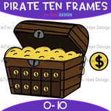 Pirate Clip Art - Pirate Treasure Chest Ten Frames {jen ha