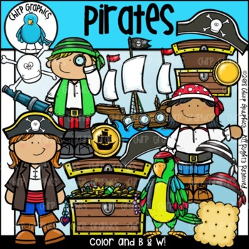 Pirate Clip Art Set - Chirp Graphics