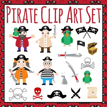 Pirate Clip Art Set For Commercial Use