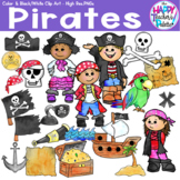 HTP Clip Art Pirate Watercolor {The Happy Teacher's Palette}
