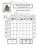 Pirate Clip Chart Behavior Daily Take Home Report