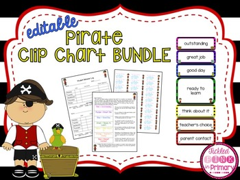 Pirate Clip Chart Bundle (Editable)