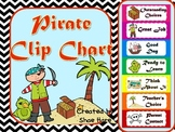 Pirate Clip Chart Labels - Positive Behavior Management {ship treasure map}