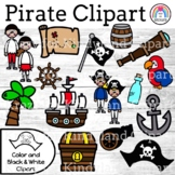 Pirate Clipart {Accents: Parrot, Treasure, Map, Cannon, Wh