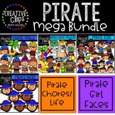 Pirate Clipart Growing Bundle ($27.00 Value) {Creative Cli