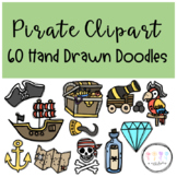 Pirate Clipart I Hand Drawn Doodles
