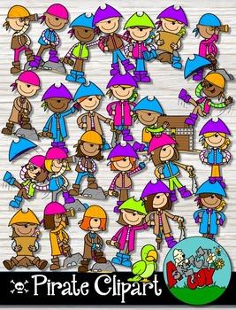Pirate Clipart - Neon Colors