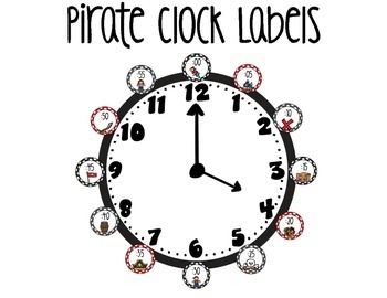 Pirate Clock Labels
