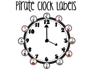 Pirate Clock Labels