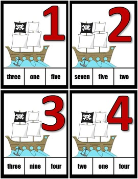 Clothespin Task Card Number Activity - Pirate Theme