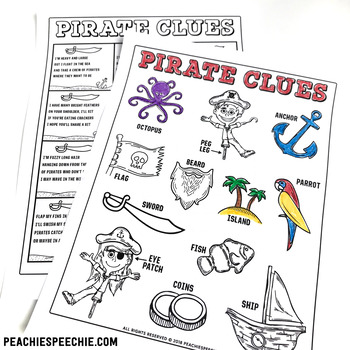 Pirate Clues Early Inferencing Activity