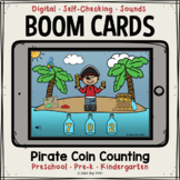 Pirate Coin Counting Boom Cards™   Distance Learning