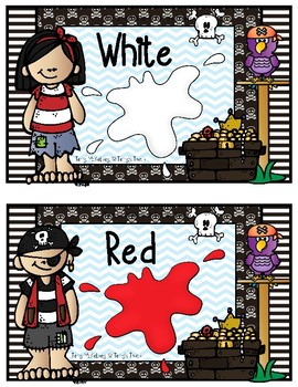 Pirate Color Words