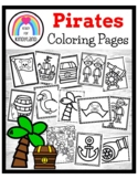 Pirate Coloring Pages Booklet: Parrot, Cannon, Anchor, Shi