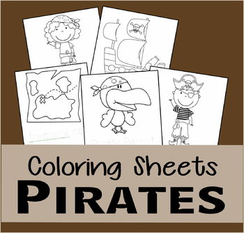 Pirate Coloring Sheets