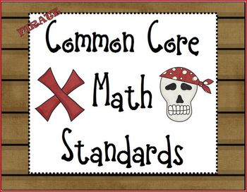 Pirate Common Core Math Standards 1st grade