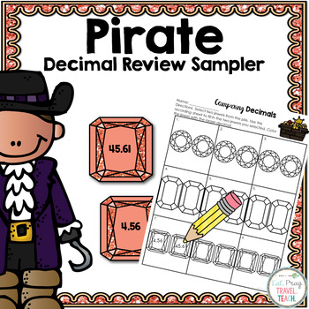 Pirate Comparing Decimals Sampler