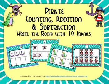 Pirate Counting, Addition & Subtraction with Ten Frames {Subitizing}