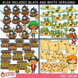 Pirate Counting Clip Art Bundle