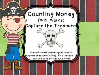 Counting Money Common Core Word Problems Math Test Prep Pirate Center Game